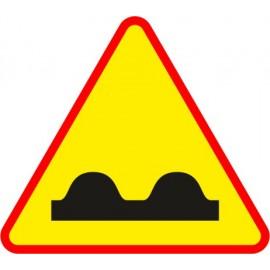 Naklejka znak ostrzegawczy A-11 Nierówna droga
