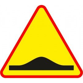 Naklejka znak ostrzegawczy A-11a Próg zwalniający