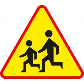Naklejka znak ostrzegawczy A-17 Uwaga na dzieci