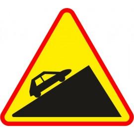 Naklejka znak ostrzegawczy A-23 Stromy podjazd
