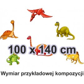 Naklejka ścienna SD40 dinozaur