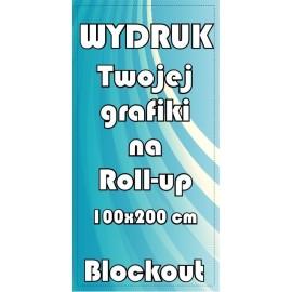 wydruk grafiki na blockout'cie do Roll-up 100x200cm (in24)
