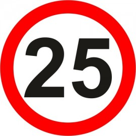 Naklejka B-33-25 ograniczenie prędkości (tu 25 km)
