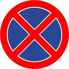 Naklejka znak zakazu B-36 zakaz zatrzymywania się