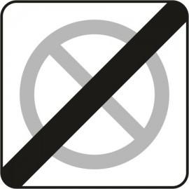 Naklejka znak zakazu B-40 koniec strefy ograniczonego postoju