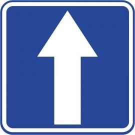 Naklejka znak informacyjny D-3 droga jednokierunkowa