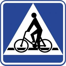 Naklejka znak informacyjny D-6a przejazd dla rowerzystów